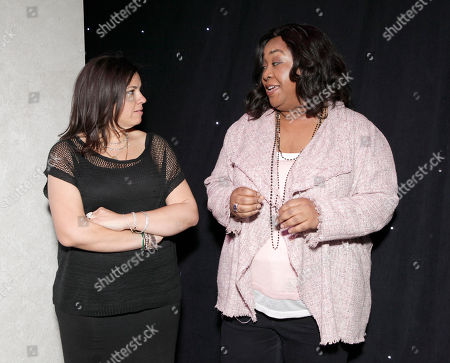SallyAnn Salsano and Shonda Rhimes attend the Produced By Conference Day 1 on in Culver City, Calif