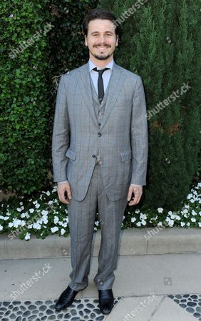Jason Ritter arrives at the Rape Treatment Center fundraiser at Greenacres, the private residence of Ron Burkle,, in Beverly Hills, Calif