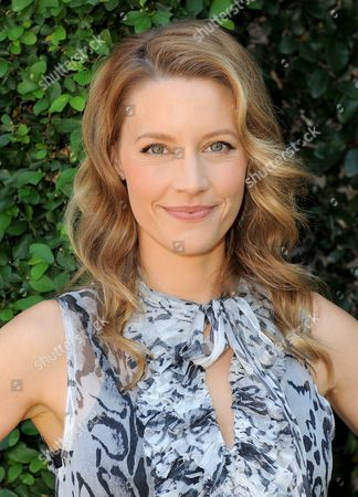 KaDee Strickland arrives at the Rape Treatment Center fundraiser at Greenacres, the private residence of Ron Burkle,, in Beverly Hills, Calif