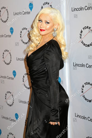 Christina Aguilera attends Sinatra: Voice for a Century concert at David Geffen Hall, in New York