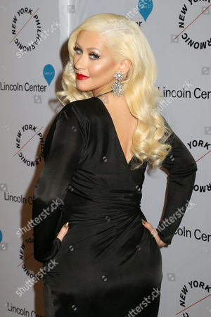 Stock Photo of Christina Aguilera attends Sinatra: Voice for a Century concert at David Geffen Hall, in New York