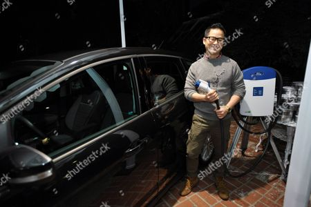 Danny Seo with the Ford C-MAX Hybrid at the Stella McCartney holiday party on in West Hollywood, Calif