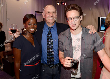 """Erica Tazel, and from left, Nick Searcy, and Jacob Pitts, attend """"An Evening with Justified"""", at the Television Academy in the NoHo Arts District in Los Angeles"""