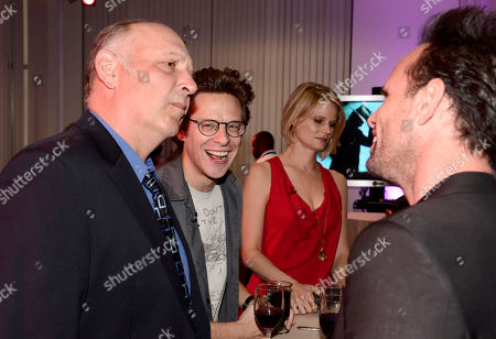 """Nick Seacy, and from left, Jacob Pitts, Joelle Carter, and Walton Goggins attend """"An Evening with Justified"""", at the Television Academy in the NoHo Arts District in Los Angeles"""