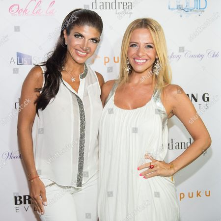 "Teresa Giudice and Dina Manzo attend ""The Real Housewives of New Jersey"" White Party at the Woodbury Country Club on in New York"