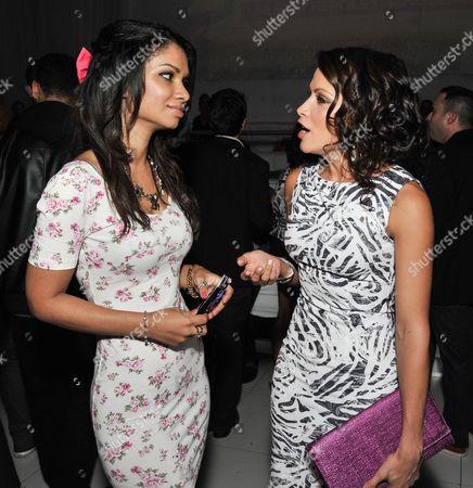 Marisa Lauren, left, and Valerie Ortiz attend the Unlikely Heroes Spring Benefit event, in Los Angeles