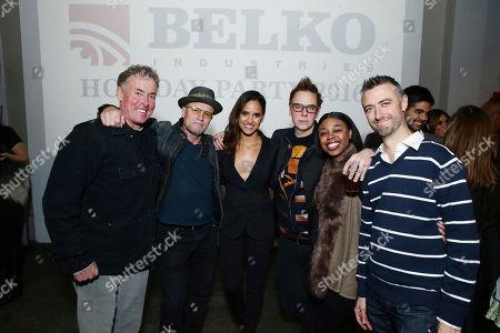 John C. McGinley, Michael Rooker, Adria Arjona, Writer/Producer James Gunn, Gail Bean and Sean Gunn seen at 'The Belko Experiment' Trailer Unveiling, in Los Angeles, CA
