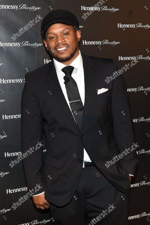 Sway Calloway attends The Hennessy Privilege Awards honoring entrepreneur, Daymond John community contribution at Gustavino's, in New York