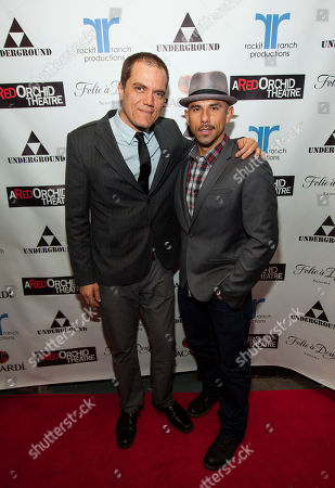 Actor, ensemble member and co-host Michael Shannon with Rockit Ranch Productions and co-host Billy Dec at A Red Orchid Theatre's 20th Anniversary Gala at Rockit Ranch Production's Underground, in Chicago