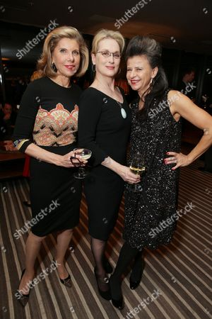 EXCLUSIVE - Christine Baranski, Meryl Streep and Tracey Ullman joined Alan Horn, Chairman of Walt Disney Studios, hosted a holiday gathering celebrating 'Into the Woods' on Wednesday, December 17 in Los Angeles, CA. The humorous and heartfelt musical, that has been nominated for 3 golden globe awards including Best Picture opens in theaters nationwide on