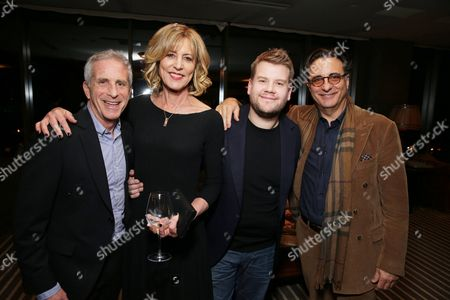 """EXCLUSIVE - Producer Marc Platt, Christine Lahti, James Corden and Andy Garcia joined Alan Horn, Chairman of Walt Disney Studios, hosted a holiday gathering celebrating """"Into the Woods"""" on Wednesday, December 17 in Los Angeles, CA. The humorous and heartfelt musical, that has been nominated for 3 golden globe awards including Best Picture opens in theaters nationwide on"""