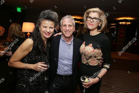 """EXCLUSIVE -Tracey Ullman, Producer Marc Platt, Christine Baranski joined Alan Horn, Chairman of Walt Disney Studios, hosted a holiday gathering celebrating """"Into the Woods"""" on Wednesday, December 17 in Los Angeles, CA. The humorous and heartfelt musical, that has been nominated for 3 golden globe awards including Best Picture opens in theaters nationwide on"""
