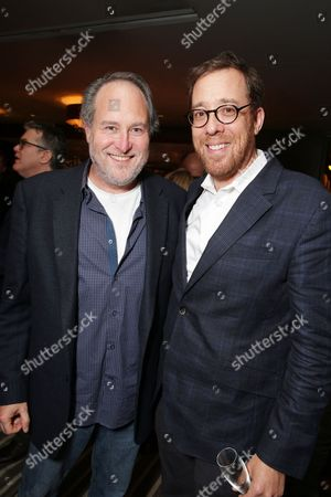 """EXCLUSIVE - Jon Turteltaub and Rob Minkoff joined Alan Horn, Chairman of Walt Disney Studios, hosted a holiday gathering celebrating """"Into the Woods"""" on Wednesday, December 17 in Los Angeles, CA. The humorous and heartfelt musical, that has been nominated for 3 golden globe awards including Best Picture opens in theaters nationwide on"""