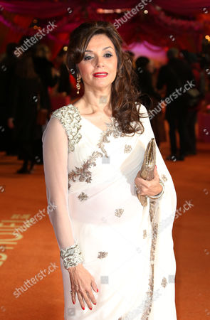 Stock Photo of Actress Lillete Dubey arrives for the World Premiere of The Second Best Exotic Marigold Hotel at the BFI at a central London cinema in Leicester Square