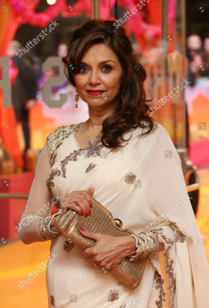 Stock Picture of Actress Lillete Dubey arrives for the World Premiere of The Second Best Exotic Marigold Hotel at the BFI at a central London cinema in Leicester Square