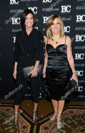 Life style journalist Megan Meany, left, and FOX News anchor Alisyn Camerota attend the 23rd Annual Broadcasting & Cable Hall of Fame Awards at the Waldorf-Astoria on in New York