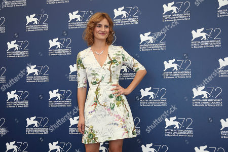 Actress Lidiya Liberman poses during the photo call for the film Sangue Del Mio Sangue (Blood of my blood) at the 72nd edition of the Venice Film Festival in Venice, Italy, . The 72nd edition of the festival runs until Sept. 12