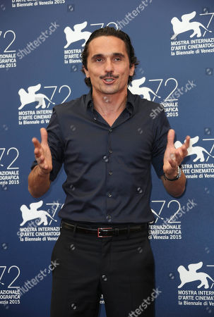 Actor Pier Giorgio Bellocchio poses during the photo call for the film Sangue Del Mio Sangue (Blood of my blood) at the 72nd edition of the Venice Film Festival in Venice, Italy, . The 72nd edition of the festival runs until Sept. 12