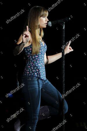 Rachel Reinert of Gloriana performs during the Rewind Tour at the Cruzan Amphitheater on in West Palm Beach, Florida