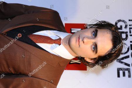 Landon Liboiron arrives at the Hemlock Grove North America Premiere, in Toronto