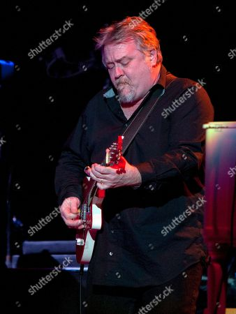 Kevin Barry of the J. Geils Band performs in concert as the band opens for Bob Seger at the Arena at Gwinnett Center, in Duluth, Ga