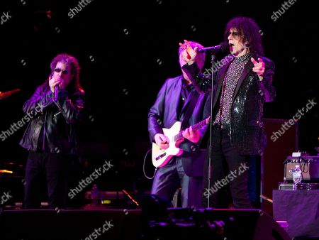 Magic Dick, Duke Levine and Peter Wolf of the J. Geils Band performs in concert as the band opens for Bob Seger at the Arena at Gwinnett Center, in Duluth, Ga