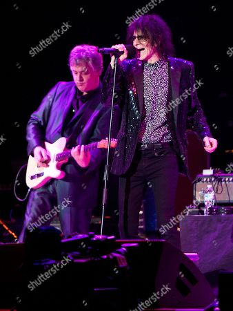 Duke Levine and Peter Wolf of the J. Geils Band performs in concert as the band opens for Bob Seger at the Arena at Gwinnett Center, in Duluth, Ga