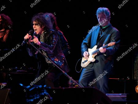 Peter Wolf and Duke Levine of the J. Geils Band performs in concert as the band opens for Bob Seger at the Arena at Gwinnett Center, in Duluth, Ga