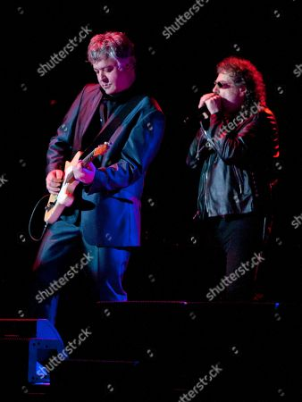 Duke Levine and Magic Dick of the J. Geils Band performs in concert as the band opens for Bob Seger at the Arena at Gwinnett Center, in Duluth, Ga