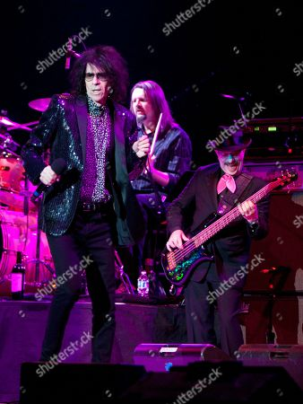 Peter Wolf, Tom Arey and Danny Klein of the J. Geils Band performs in concert as the band opens for Bob Seger at the Arena at Gwinnett Center, in Duluth, Ga