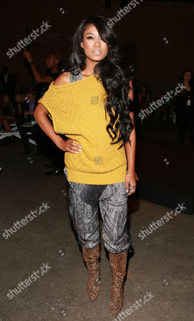 Mila J is seen at MBFW Spring/Summer 2015 Tracy Reese fashion show at Artbeam, in New York