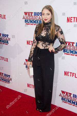 "Allie Stamler attends the premiere of Netflix's new original series, ""Wet Hot American Summer: First Day of Camp"", at the SVA Theater, in New York"