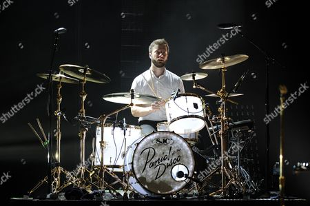 Spencer Smith from Panic at the Disco performs at the Mizner Park Amphitheater on in Boca Raton, Florida