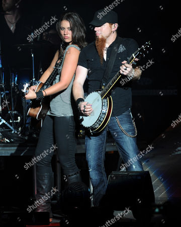 Stock Photo of WEST PALM BEACH, FL - AUGUST 11: Rachel Farley performs during the My Kinda Party Tour 2012 at the Cruzan Amphitheater on in West Palm Beach,Florida