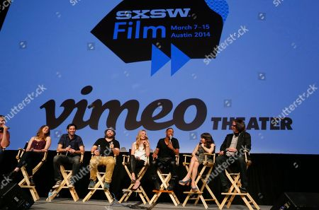 "Cody Heller, Brett Konner, Tyler Labine, Cat Deeley, Brandon Jackson, Lucy DeVito and director Troy Miller discuss their new Hulu series ""Deadbeat"" during the SXSW Film Festival, in Austin, Texas"