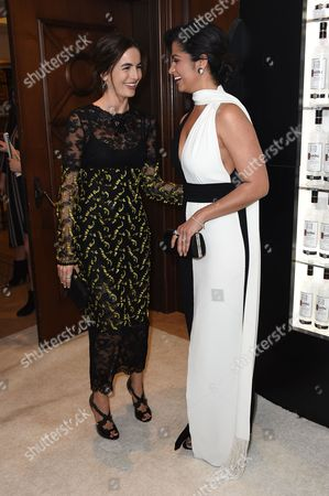 Stock Photo of Camilla Belle, left, and Camila Alves attend unite4:good and Variety's 3rd Annual unite4:humanity at Montage Beverly Hills on in Beverly Hills, California