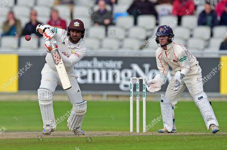 Kumar Sangakkara batting in his last innings