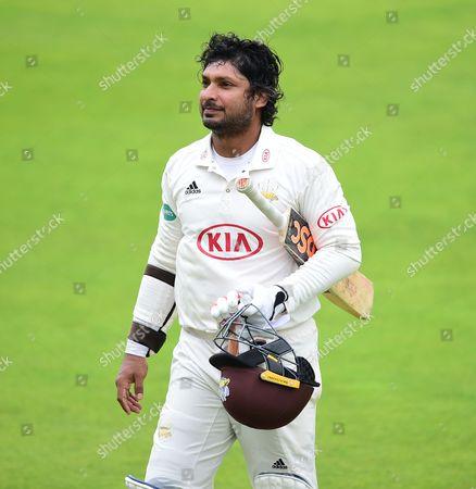 Kumar Sangakkara ends his final innings unbeaten