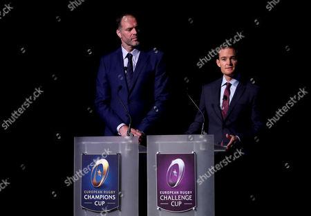 BT Sports' Martin Bayfield and Sky Sports' James Gemmell