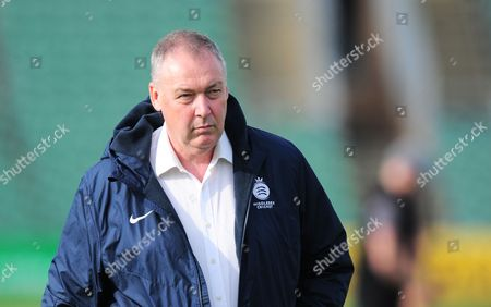 Angus Fraser, Director of cricket for Middlesex and England Selector looks on during the 3rd Day of the Division 1 Specsavers County Championship match between Somerset and Middlesex at The Cooper Associates County Ground, Taunton 27th September 2017(