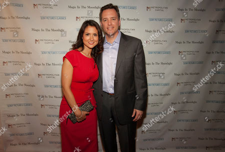 Stock Picture of From left, Monica Rose and Michael P. Rose seen at the Magic In The Moonlight screening, on in Chicago