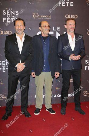 Gilles Lellouche, left, Jean-Pierre Bacri and Jean Paul Rouve