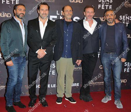 Olivier Nakache, Gilles Lellouche, Jean-Pierre Bacri, Jean Paul Rouve and director Eric Toledano