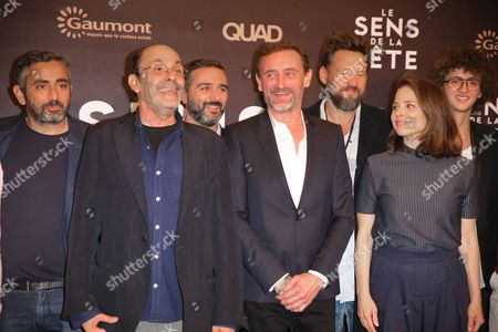 Director Eric Toledano, left, actor Jean-Pierre Bacri, director Olivier Nakache, actor Jean Paul Rouve and actress Suzanne Clement