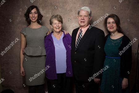 """From left, filmmaker Lana Wilson, Dr. Susan Robinson, Dr. LeRoy Carhart, and filmmaker Martha Shane from the documentary """"After Tiller"""" pose for a portrait during the 2013 Sundance Film Festival at the Fender Music Lodge, on in Park City, Utah"""