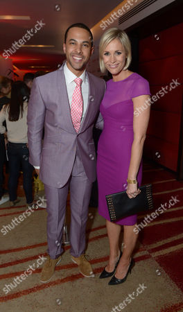 Marvin Humes and Jenny Falconer are seen at the Arqiva Commercial Radio Awards in London on