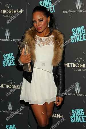 "Krystal Brown attends the premiere of ""Sing Street"" at Metrograph, in New York"