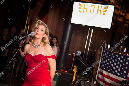 Sony Music recording artist Emily West performs at the First Annual Operation: Heal Our Heroes Gala, to benefit the Give An Hour charity at HAUS, in New York
