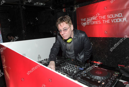 The Smith's Andy Rourke, Rock and Roll Hall of Fame nominee, DJs as a part of The Scene By Stoli Project celebrating 35 years of nightlife at The Pyramid Club on Avenue A in New York