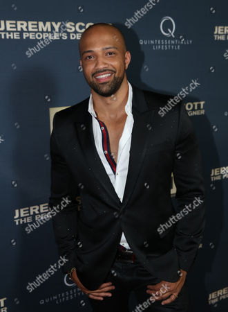 Edwin Mejia attends the World Premiere of JEREMY SCOTT: THE PEOPLE'S DESIGNER, presented by The Vladar Company and Quintessentially at the TCL Chinese Theatre, in Hollywood, Calif